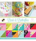 DCWV 36 Pack 12\u0022x12\u0022 Premium Printed Cardstock Stack-Birds & Butterflies