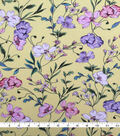 Knit Prints Rayon Spandex Fabric-Yellow Spring Floral