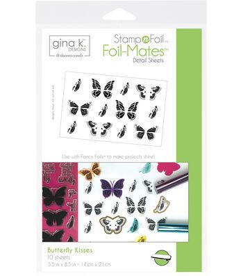 Gina K. Designs StampnFoil Foil-Mates Detail Sheets-Butterfly Kisses