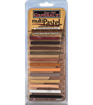 General's Multi Pastel Compressed Chalk Sticks 12/Pkg-Skin Tones