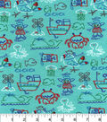 Snuggle Flannel Fabric -Sailor Sam And Friends