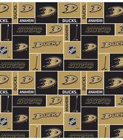 Anaheim Ducks Cotton Fabric -Block, , hi-res
