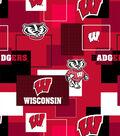 University of Wisconsin Badgers Cotton Fabric 43\u0027\u0027-Modern Block
