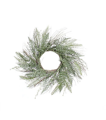 Camp Ann 21''x21'' Fern Wreath