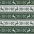 Snuggle Flannel Fabric -Green Nordic Reindeer