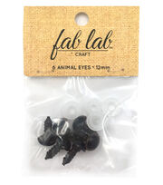 Shank Back Animal Eyes 12mm 6/Pkg-Brown, , hi-res