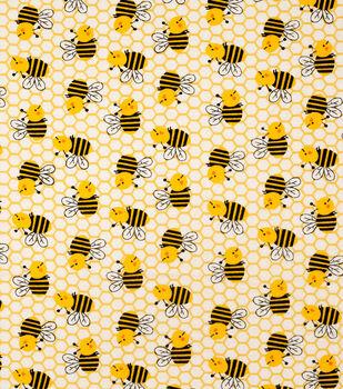 Super Snuggle Flannel Fabric-Honeycomb Bee