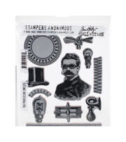 Tim Holtz Cling Stamps 7''X8.5''-The Professor, , hi-res