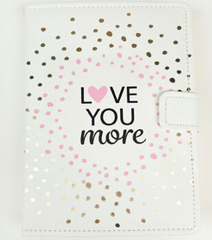 Park Lane 23''x15.5'' Journal-Love You More on Ivory