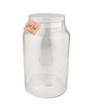 Fab Lab Craft 12'' Glass Container with Frosted Lid