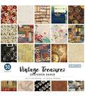 Colorbok Single-Sided Paper 12\u0022X12\u0022-Vintage Treasures, 25 Designs