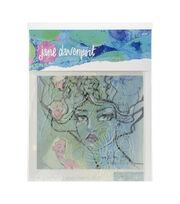 Jane Davenport Artomology Stencils-Flower Girl, , hi-res