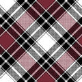 Blizzard Fleece Fabric-Burgundy Annie Plaid