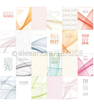 Alexandra Renke 12''x12'' International Papers-Card Sheet Color Waves