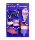 Land of the Free Baking Patriotic 5 pk Cookie Cutters-Americana