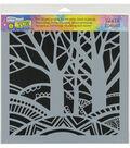 The Crafter\u0027s Workshop 12\u0027\u0027x12\u0027\u0027 Stencil-Tree Paradise