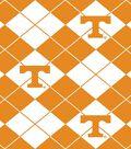 University of Tennessee Volunteers Fleece Fabric -Argyle
