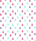 Snuggle Flannel Fabric -Gypsy Triangles On White