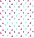 Snuggle Flannel Fabric 42\u0022-Gypsy Triangles On White