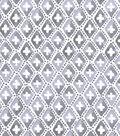 Snuggle Flannel Fabric 42\u0022-Gray Geometric