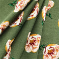 Knit Prints Double Brushed Fabric-Olive Rose Print