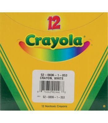 Crayola Regular Size Bulk White Crayons-12/Pkg
