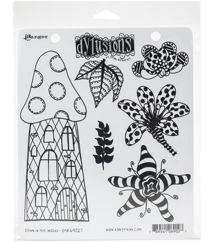 Dyan Reaveley's Dylusions Cling Stamp Collections 8.5''X7'' Down
