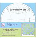 June Tailor Turn Over A New Leaf Fleece Ruler-8\u0022 Round
