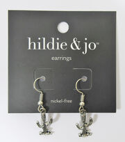 hildie & jo Cactus Earrings-Antique Silver, , hi-res
