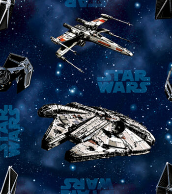 Star Wars Cotton Fabric 44''-Ships