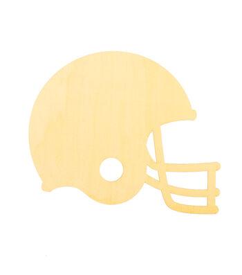 "Fall 12""x9"" Wood Laser Football Helmet"