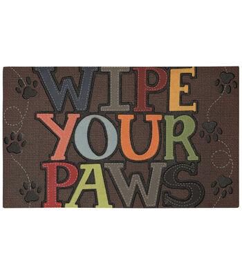 Mohawk Home 18''x30'' Doormat-Wipe Your Paws
