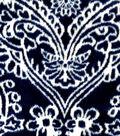 Sew Lush Fleece Fabric -Navy Damask