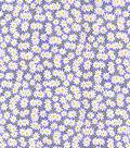 Keepsake Calico Cotton Fabric-Packed Daisies on Dark Purple