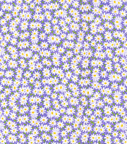 Keepsake Calico Cotton Fabric-Packed Daisies on Dark Purple, , hi-res