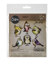 Sizzix Framelits Dies 18/Pkg By Tim Holtz-Bird Crazy, , hi-res