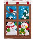 Winter Window Wall Hanging Felt Applique Kit 15\u0022X21\u0022