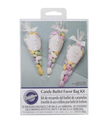 Cello Bags 30/Pkg-Candy Buffet