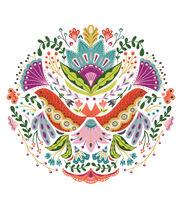 Cricut Large Floral Mandala Iron-On Design, , hi-res