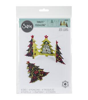 Sizzix Thinlits Dies-Card, Christmas Tree Fold-A-Long