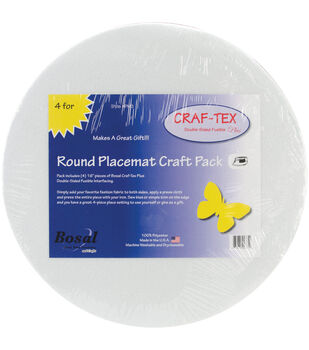 Bosal Craf-Tex 16'' Round Placemat Craft Pack