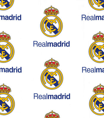 Real Madrid Football Club Cotton Fabric 44''