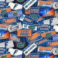 University of Florida Gators Cotton Fabric-License Plate