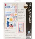Fun In The Sun Counted Cross Stitch Kit-7\u0022X14\u0022 14 Count