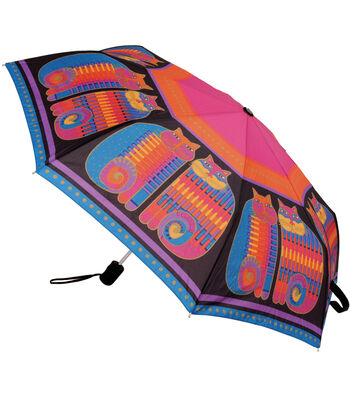 Laurel Burch Compact Umbrella-Rainbow Cat Cousins