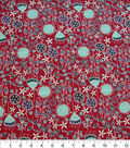 Quilter\u0027s Showcase Cotton Fabric-Floral Mix on Red