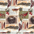 Novelty Cotton Fabric-Traditional Cardinals