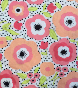 Snuggle Flannel Fabric -Mimosa Daisies