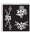 FolkArt 12X12\u0027\u0027 Adhesive Stencil-Floral Spray
