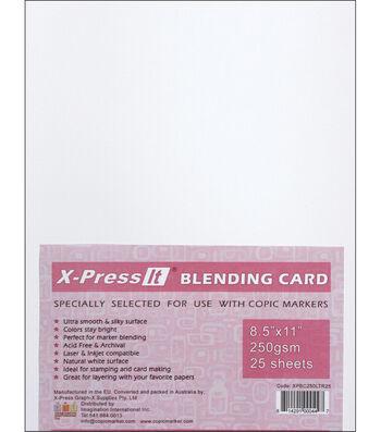 "Copic X-Press Blending Card 8.5""X11"" 25 Sheets-White"